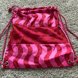 American Girl Pink Red Drawstring Backpack